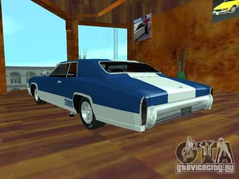 Buccaneer Turbo для GTA San Andreas вид слева