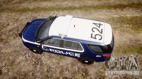 Ford Explorer 2013 LCPD [ELS] v1.0L для GTA 4 вид справа