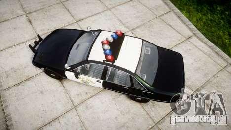 Chevrolet Caprice 1991 Highway Patrol [ELS] для GTA 4 вид справа