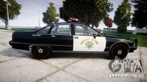 Chevrolet Caprice 1991 Highway Patrol [ELS] для GTA 4 вид слева