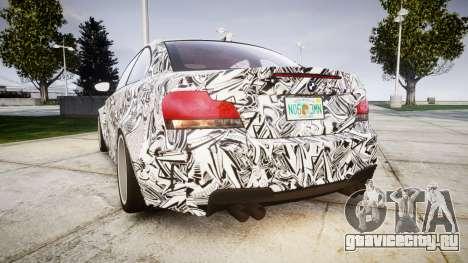 BMW 1M 2011 Sharpie для GTA 4 вид сзади слева