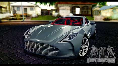 Aston Martin One-77 Red and Black для GTA San Andreas