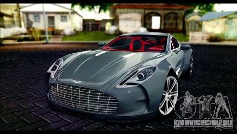 Aston Martin One-77 Red and Black для GTA San Andreas