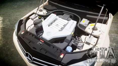 Mercedes-Benz C63 AMG 2010 для GTA 4 вид сбоку