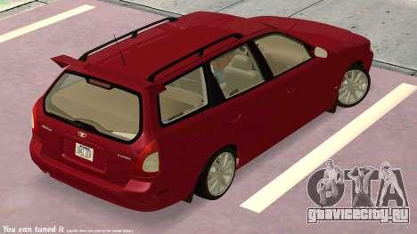 Daewoo Nubira I универсал CDX США, 1999 г. для GTA San Andreas вид сбоку