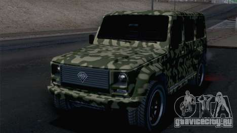 GTA 5 Benefactor Dubsta для GTA San Andreas вид сзади