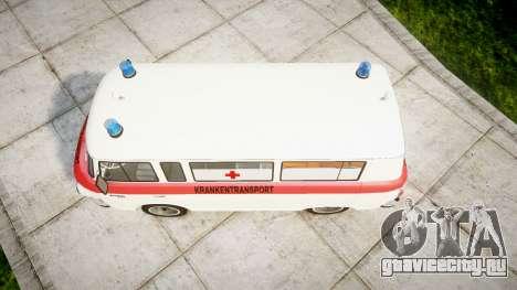 Barkas B1000 1961 Ambulance для GTA 4 вид справа