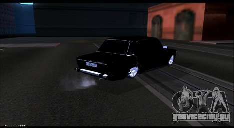 ВАЗ 2106 Черныш для GTA San Andreas вид сзади слева