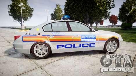 BMW 525d E60 2006 Police [ELS] для GTA 4 вид слева