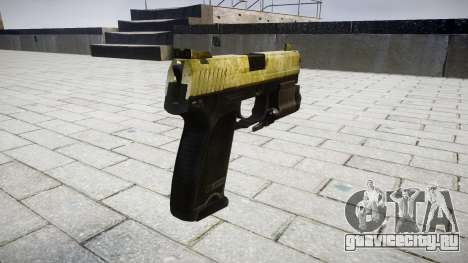 Пистолет HK USP 45 olive для GTA 4 второй скриншот