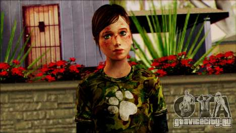 Ellie from The Last Of Us v2 для GTA San Andreas третий скриншот