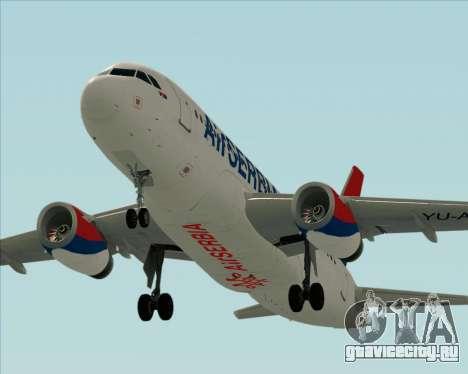 Airbus A319-100 Air Serbia для GTA San Andreas двигатель
