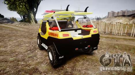 Ford Intruder Lifeguard Beach [ELS] для GTA 4 вид сзади слева
