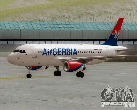 Airbus A319-100 Air Serbia для GTA San Andreas вид сзади слева