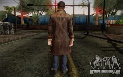 Aiden Pearce from Watch Dogs v12 для GTA San Andreas второй скриншот