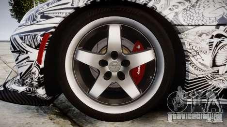 Dodge Viper SRT GTS 2013 Sharpie для GTA 4 вид сзади