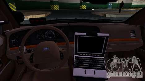 LAPD Ford Crown Victoria Slicktop для GTA San Andreas вид сзади слева
