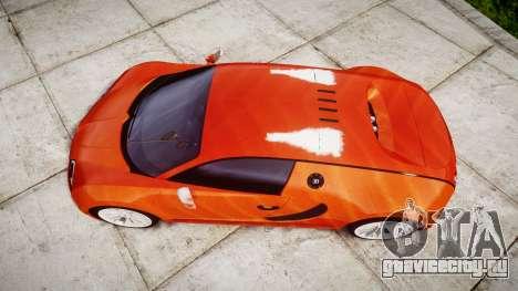 Bugatti Veyron 16.4 SS [EPM] Halloween Special для GTA 4 вид справа