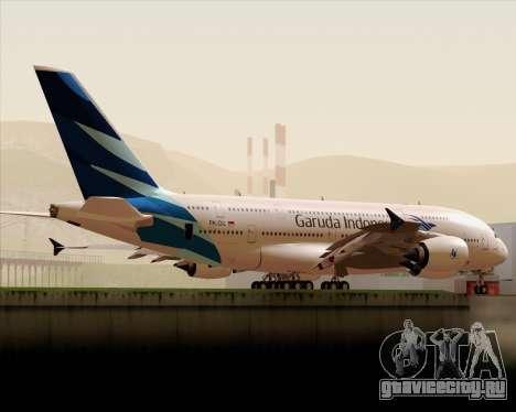 Airbus A380-800 Garuda Indonesia для GTA San Andreas вид сбоку
