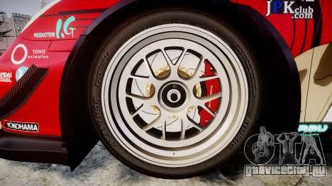 Porsche 911 Super GT 2013 для GTA 4 вид сзади
