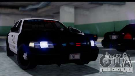 LAPD Ford Crown Victoria Slicktop для GTA San Andreas