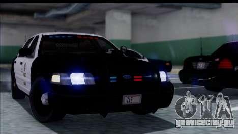 LAPD Ford Crown Victoria Slicktop для GTA San Andreas