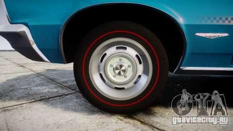 Pontiac GTO 1965 victory cars для GTA 4 вид сзади