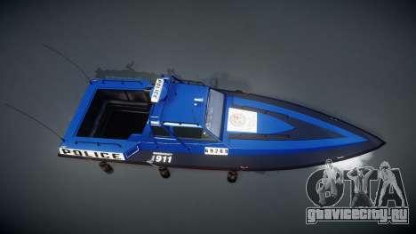 GTA V Police Predator для GTA 4 вид справа