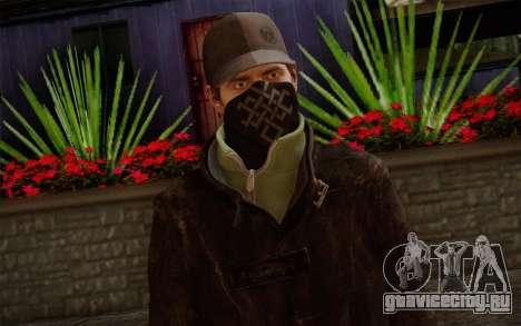 Aiden Pearce from Watch Dogs v2 для GTA San Andreas третий скриншот