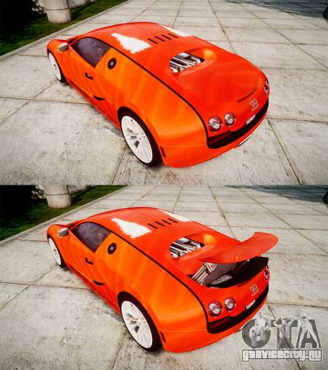 Bugatti Veyron 16.4 SS [EPM] Halloween Special для GTA 4 вид сбоку
