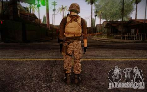 Brady from Battlefield 3 для GTA San Andreas второй скриншот