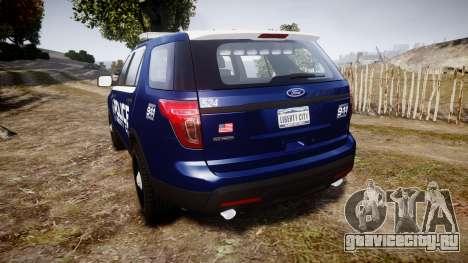 Ford Explorer 2013 LCPD [ELS] v1.0L для GTA 4 вид сзади слева