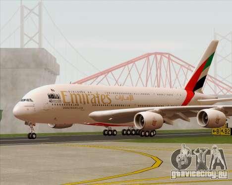 Airbus A380-800 Emirates 40 Anniversary Sticker для GTA San Andreas вид изнутри