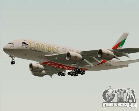 Airbus A380-800 Emirates 40 Anniversary Sticker для GTA San Andreas вид справа