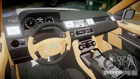 Range Rover Sport Kahn Tuning 2010 для GTA 4 вид изнутри