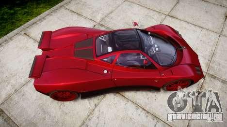 Pagani Zonda C12 S 7.3 2002 PJ2 для GTA 4 вид справа