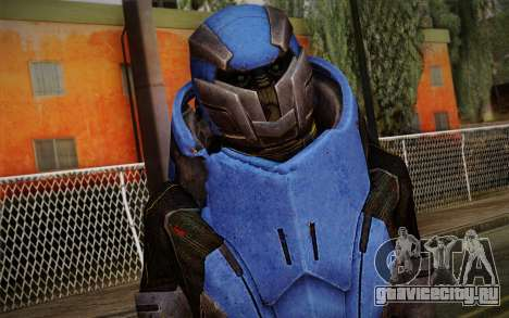 Garrus Helmet from Mass Effect 2 для GTA San Andreas третий скриншот