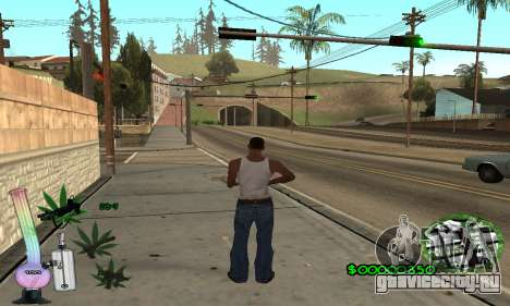 C-HUD Canabis для GTA San Andreas второй скриншот