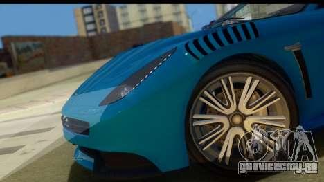 GTA 5 Dewbauchee Massacro для GTA San Andreas вид сзади слева