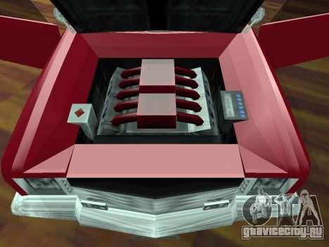 Buccaneer Turbo для GTA San Andreas вид сверху