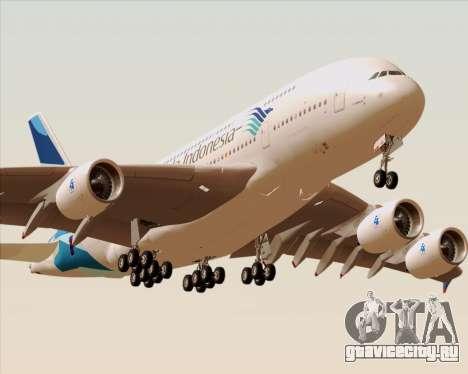 Airbus A380-800 Garuda Indonesia для GTA San Andreas двигатель