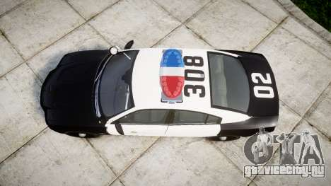 Dodge Charger 2013 LAPD [ELS] для GTA 4 вид справа