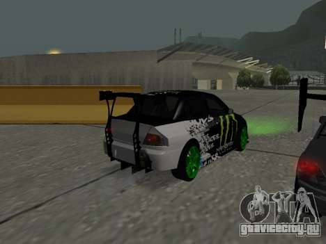 Mitsubishi Lancer Evo 9 Monster Energy для GTA San Andreas вид справа