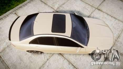 Mercedes-Benz C63 AMG 2010 для GTA 4 вид справа