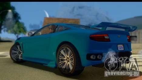GTA 5 Dewbauchee Massacro для GTA San Andreas вид слева