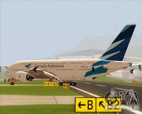 Airbus A380-800 Garuda Indonesia для GTA San Andreas вид слева
