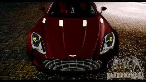 Aston Martin One-77 Black and Red для GTA San Andreas вид сзади слева