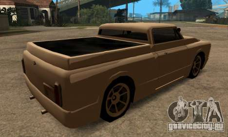 Beta Slamvan для GTA San Andreas вид сзади слева