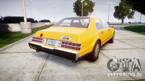 Albany Esperanto Taxi для GTA 4 вид сзади слева