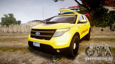 Ford Explorer 2013 Lifeguard Beach [ELS] для GTA 4